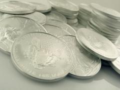 Silver Eagle $1 U.S. Bullion Coins - stock photo