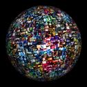 Stock Illustration of Multimedia Image Video Wall Sphere