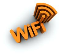 Wifi Text With Antenna Icon Stock Illustration