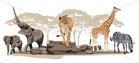 Stock Illustration of african animals
