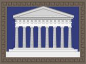 Antique greek temple Stock Illustration