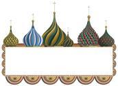 Frame with kremlin domes Stock Illustration