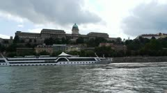 HD1080 Buda Castle seen across the Danube Stock Footage