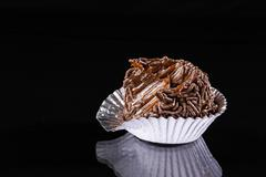 brigadeiro bitten - stock photo
