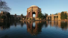 Palace of Fine Arts at Sunrise - stock footage