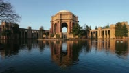 Stock Video Footage of Palace of Fine Arts at Sunrise