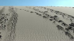 Footprints and people moving away Stock Footage