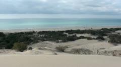 Seaside dunes 2 Stock Footage