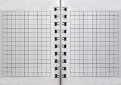 blank isolated notepad with clipping path - stock photo