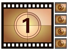 film countdown 2 - stock illustration