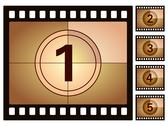 Film countdown 2 Stock Illustration