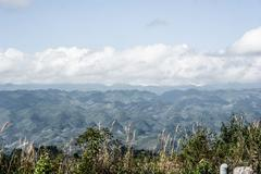guatemala lanscape from road - stock photo