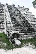 Stock Photo of historic place in chichen itza mexico