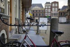 Bike in city center Stock Photos