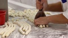 Gnocchi cutting Stock Footage