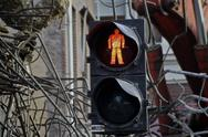 Stock Photo of Traffic light Don't Walk
