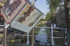 Canal Delft Stock Photos