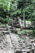 Temples in the copan ruinas, honduras Stock Photos