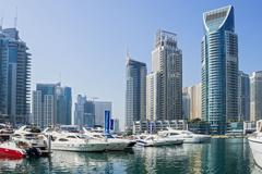 Stock Photo of yacht club in dubai marina