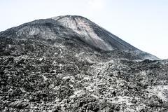 volcano fuego in guatemala - stock photo