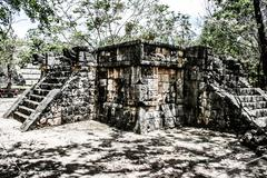 historic place in chichen itza mexico - stock photo
