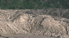 Volcano damaged landscape at the foot of the Rabaul volcano in PNG 19 Stock Footage