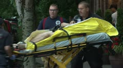 Ambulance load. Stock Footage