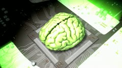 Concept animation powerful brain function. Stock Footage