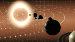 Animation of the solar system Stock Footage
