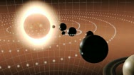 Stock Video Footage of Animation of the solar system
