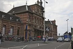 Delft Central Station - stock photo