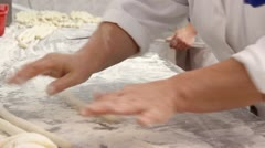 Kneading hands Stock Footage