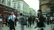 Crowds coming off the tube in London Stock Footage