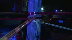 Lots of crime scene tape Stock Footage