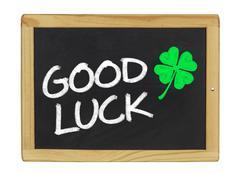 good luck on a blackboard - stock illustration