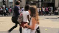 Stock Video Footage of pedestrians cross london street
