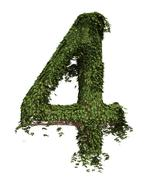 The Number Four - Ivy - stock illustration