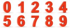 Red Plastic Numbers Stock Illustration