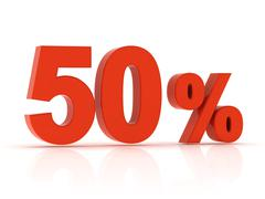 50 Percent Stock Illustration