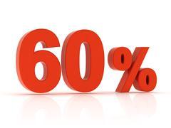 60 Percent - stock illustration