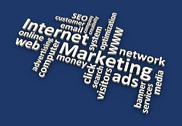 Internet Marketing Words (Blue) Stock Illustration