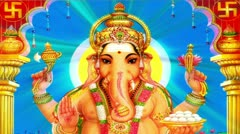 Lord Ganesha Stock Footage