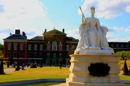 Stock Photo of Statue of Victoria in front of Kensington Palace, Hyde Park, London