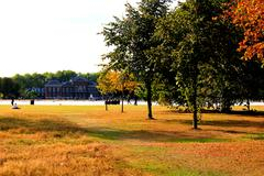 Kensington Palace and Hyde Park - stock photo