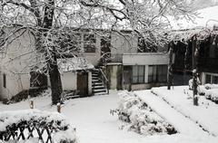 Saint nicholas convent in the winter Stock Photos