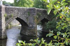 Old bridge in Horrabridge, Devon - stock photo