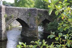 Old bridge in Horrabridge, Devon Stock Photos