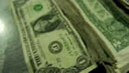 Stacks of $1 - Close Up Stock Footage