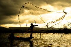 fisher man - stock photo
