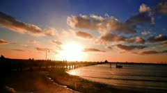 St Kilda Sunset Stock Footage